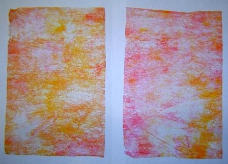 pink/orange dryer sheets