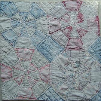 gessoed quilt blocks