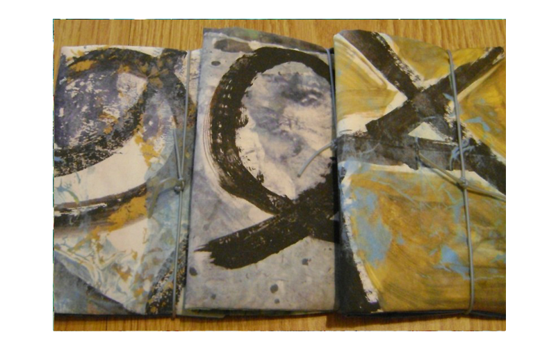 Journal covers using my prints